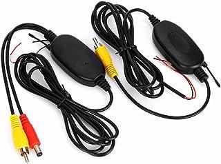 3T6B 24 GHz Inalámbrico Vídeo RCA Transmisor y Receptor Kit para la Cámara de Reserva del Coche de la Opinión Posterior del Revés del Monitor Sistema de Estacionamiento