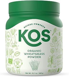 KOS Organic Wheatgrass Juice Powder | Chlorophyll Rich Premium Wheatgrass Juice Powder | USDA Organic, Cold-Pressed & Air ...