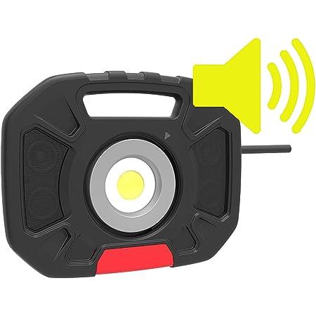 Sbk Bst1003 Led Baustrahler Mit Lautsprecher Bluetooth 2x5w 40w 4000 Lumen Ip54 Ik07 Baumarkt