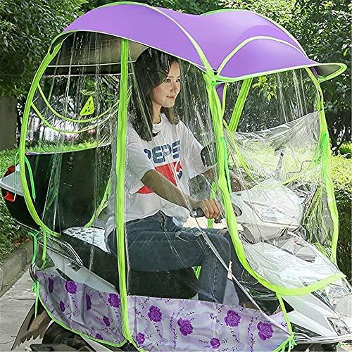 GPWDSN Vollständig geschlossene elektrische Motorroller-Regenschirm-Markise, wasserdichte Universal-Mobilitäts-Sonnenschutz-Regenhülle