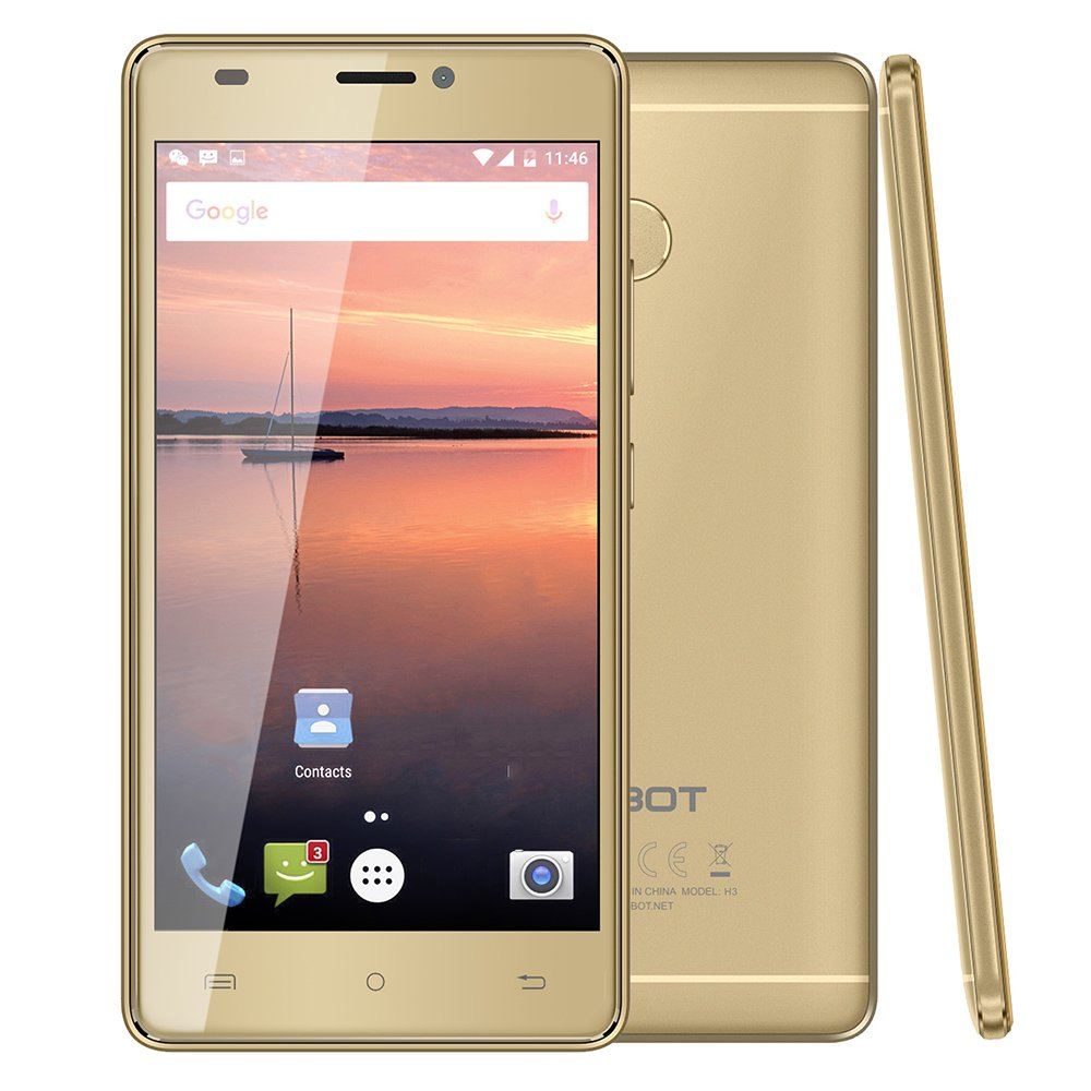 CUBOT H3 4G Smartphone 5.0 Inch Android 7.0 MTK6737 1.3GHz Quad ...