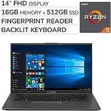 ASUS VivoBook F412DA 2019 Premium 14'' FHD Laptop Notebook Computer, 4-Core AMD Ryzen 5-3500U 2.0GHz, 16GB RAM, 512GB SSD, No DVD, Backlit Keyboard, Wi-Fi, Bluetooth, Webcam, HDMI, Windows 10 Home