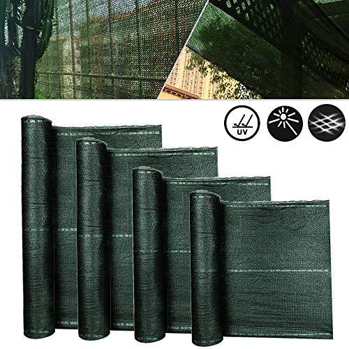Froadp Balkon Sichtschutz Für Balkon Windschutz Staubschutz Balkonumspannung mit Ösen und Kordel Grün 1x50m