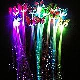 M.best 12 PCS LED Schmetterling (zufällige Farbe) Blinkende Faser Optik Haar Braid Barrettes für...