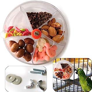 Sqxaldm Obrotowa zabawka papugi, zabawka dla papugi, dozownik pokarmu zabawka obrotowa, z tworzywa sztucznego, obrotowa, d...