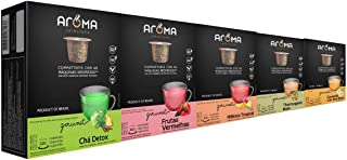50 Cápsulas Para Nespresso - Kit Degustação Chá - Cápsula Aroma