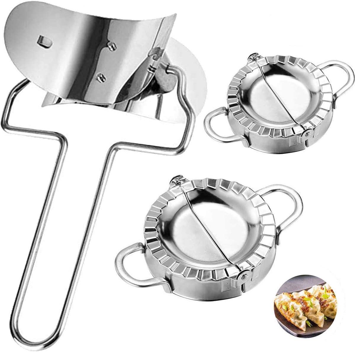 Dumplings Max 64% OFF Maker-3 Pack Stainless Steel Dumpling Over item handling ☆ Mold Dumplin Set