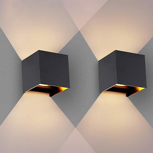 OOWOLF Appliques Murales, Appliques Murales Interieur/Extérieur [2 Pièces] 3.8W 3000K G9 LED remplaçable, IP65 Waterp...