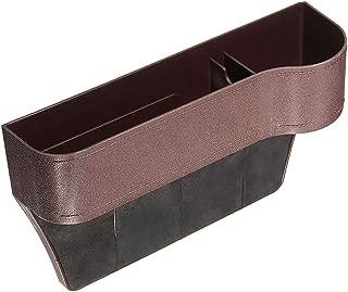 Car Seat Gap Pocket Catcher Organizer Leak-Proof Storage Bag Multifunctional Storage Box for Car Seat Catcher Gap Schwarz, Richtig PU Leather Leak Proof Storage Organizer