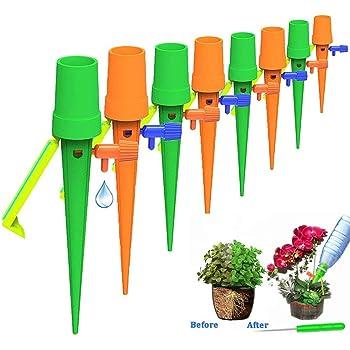 Irrigation Goutte /à Goutte Kit,24Pcs Arroseurs Automatiques Plantes avec Vannes Syst/ème D/'Irrigation Goutte-/à-Goutte de R/égulation Dispositifs Contr/ôlables,pour Jardin Maison Int/érieur Ext/érieur