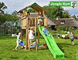 Jungle Gym Spielturm Chalet - 3 m Rutsche Sandkasten Kletterturm
