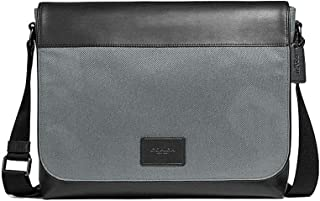 Coach Mens Nylon and Leather Messenger Tote Bag - #F38741 - Black/Grey