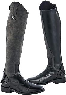 HKM SPORTS EQUIPMENT Reitstiefel-Damen-Lang und Weit mit Elastikeinsatz9100 schwarz40 Nero Pantaloni Unisex-Adulto 40