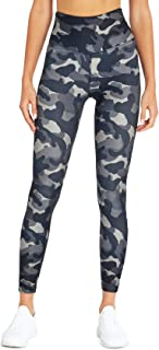 Bally Total Fitness Kayla High Rise Performance Ankle Legging, Black Camo, Medium