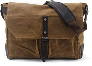 Mens Bag Messenger Bag Simple Retro Large Capacity Zipper Waterproof Outdoor Canvas Briefcase Shoulder Bag High capacity