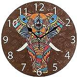 0 Reloj de Pared de acrílico Redondo Elefante Colorido, Reloj de Pared...