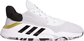 adidas Pro Bounce 2019 Low White/Black/Gold Basketball Shoes (EF0472)