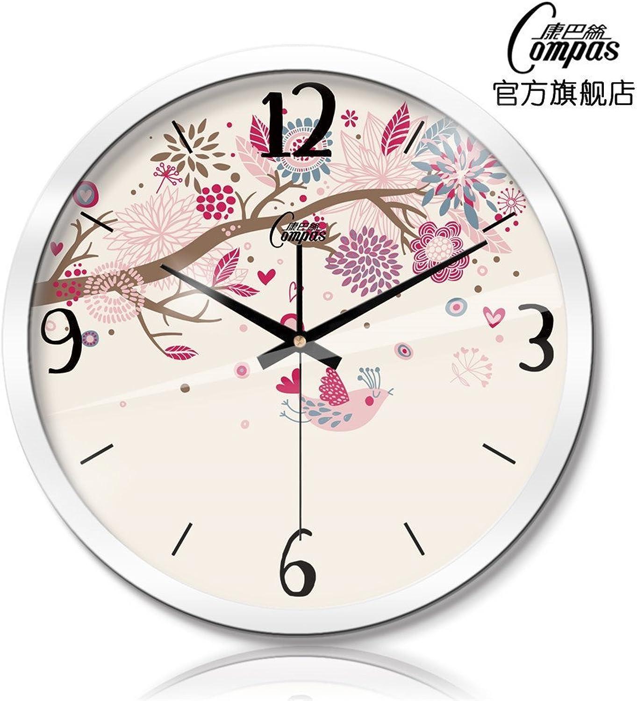 hermoso Reloj de parojo Sin marcar Número Cuarzo Reloj Reloj Reloj de parojo Sala de estar Decorativo Reloj interior Dormitorio Reloj de cocina Reloj de cuarzo de metal mudo Reloj de parojo minimalista creativo con flores.1  bienvenido a orden