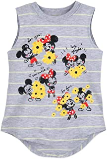 Disney Mickey and Minnie Mouse Striped Tank Top for Girls, Size XXS (2/3)