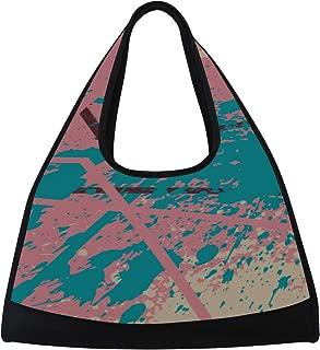 JGYJF Art Colorful Paint Block Spray Graffiti Custom Tennis Racquet Bag Fitness Bag Womens Tennis Tote Bag with Pockets Men Badminton Bag Racquet Shoulder Bag for Sport Travel Shopping