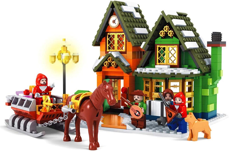 Hbwz Weihnachten Post Block Puzzle Set 860 stücke Stadt Dorf Kinder Montiert Spielzeug Geeignet Für Jungen Mdchen über 6 Jahre alt