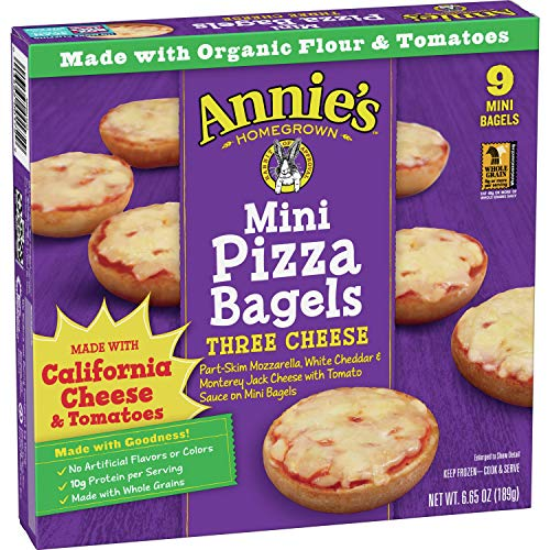Annie's Three Cheese Mini Frozen Pizza Bagels, 6.65 oz, 9 ct