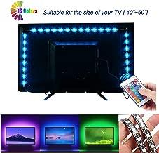 VIPMOON LED TV Backlight Strip Lights, RGB Black Board Lamp Bar TV Back Lighting Kit with 1M USB Remote Controller