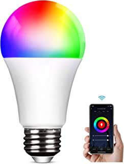 Lampadina WiFi E27 Lampadine LED Alexa Intelligence,2800k-6000k, RGB 9W Wifi 2.4Ghz Regolabile Multicolore Light Telecoman...