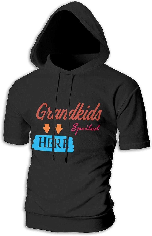 Grandkids Spoiled Here Amendment Mens 5 popular Short Hip Hoodi excellence Hop Sleeve