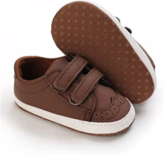 Unisex Baby Sneakers Soft Sole PU Leather Shoes Infant Toddler Boys Girls Anti-Slip Prewalker (Color : E, Shoe Size : 12-1...