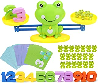 Balance Math Game Counting Toy - Frog Balance Cool Math Games for Toddlers Kids 3,4,5 yrs Gift, STEM Educational Toy Presc...