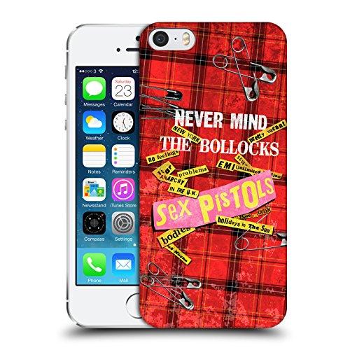 Head Case Designs Licenza Ufficiale Sex Pistols Tartan Print Song Art Arte di Banda Cover Dura per Parte Posteriore Compatibile con Apple iPhone 5 / iPhone 5s / iPhone SE 2016