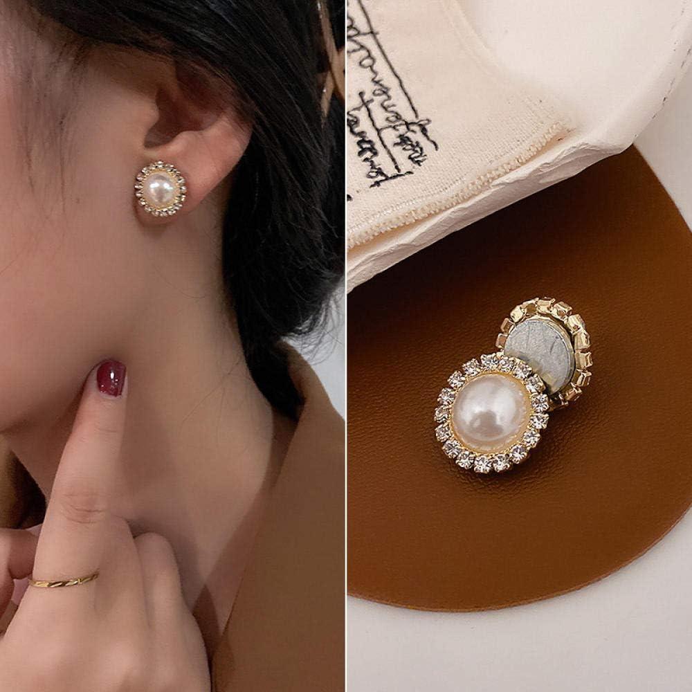 Seasonal Wrap Introduction Real Gold Plating South 2021 model Korea Pearl Dongdaemun Ear ferromagnetic