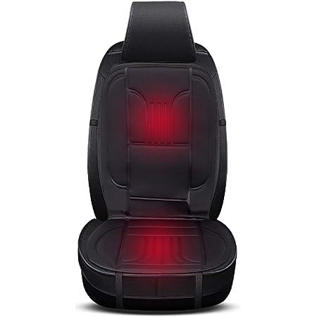 Eugad 0001jrd Sitzheizung Auto 12 V Heizung Für Sitz Rücken Vordersitz Überhitzungsschutz Schwarz 49 X 97 5 Cm Auto