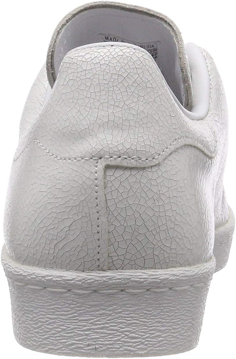 adidas Superstar 80s Clean, Scarpe da Ginnastica Uomo Bianco Ftwr White Ftwr White Gold Met