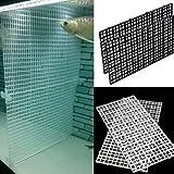 SYN Junta aisladora de acuario para acuario, bandeja divisora de rejilla, filtro de caja de huevos, aislamiento inferior, separadores de peceras (transparente)