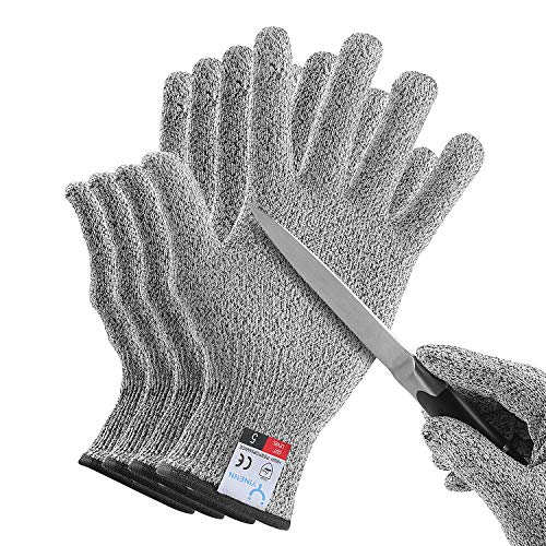 4-YINENN 2 Pairs (4 Gloves) Cut Resistant Oyster Shucking Gloves for Kids XXS