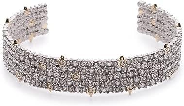 Alexis Bittar Womens Crystal Lace Cuff Bracelet