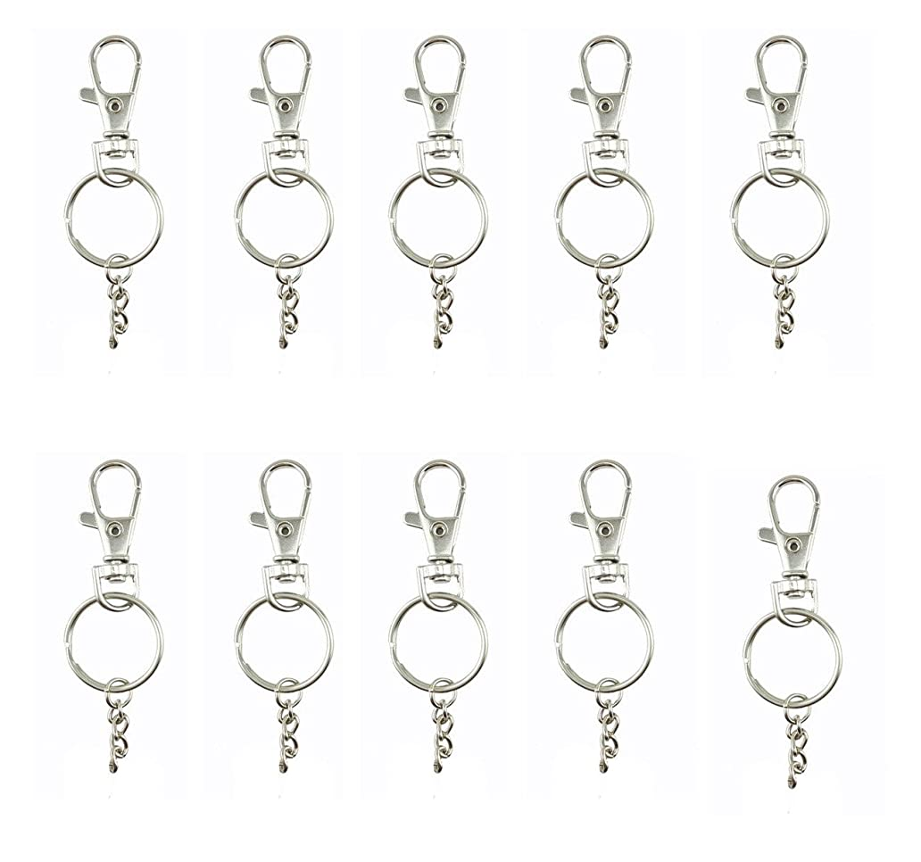 yueton Pack of 50 Lobster Clasps Swivel Trigger Clips Snap Hooks Bag Key Ring Charms Findings ysa3771207