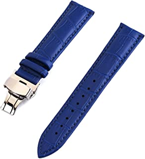 Crocodile Leather Watch Band 12mm/13mm/14mm/15mm/16mm/17mm/18mm/19mm/20mm/21mm/22mm/24mm Watchband Butterfly Clasp Strap