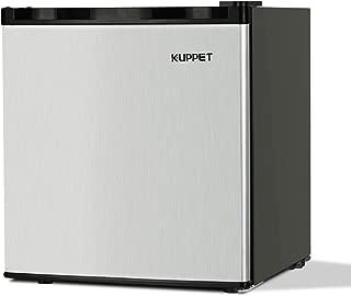 KUPPET Compact Upright Freezer, Single Door, Reversible Stainless Steel Door, Adjustable Removable Shelves, 1.1 cu. ft.