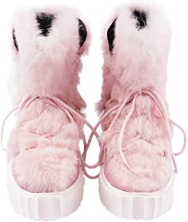Women's Winter Boots, Faux Fur Snow Boots Fashion High Heel Wedges Boots