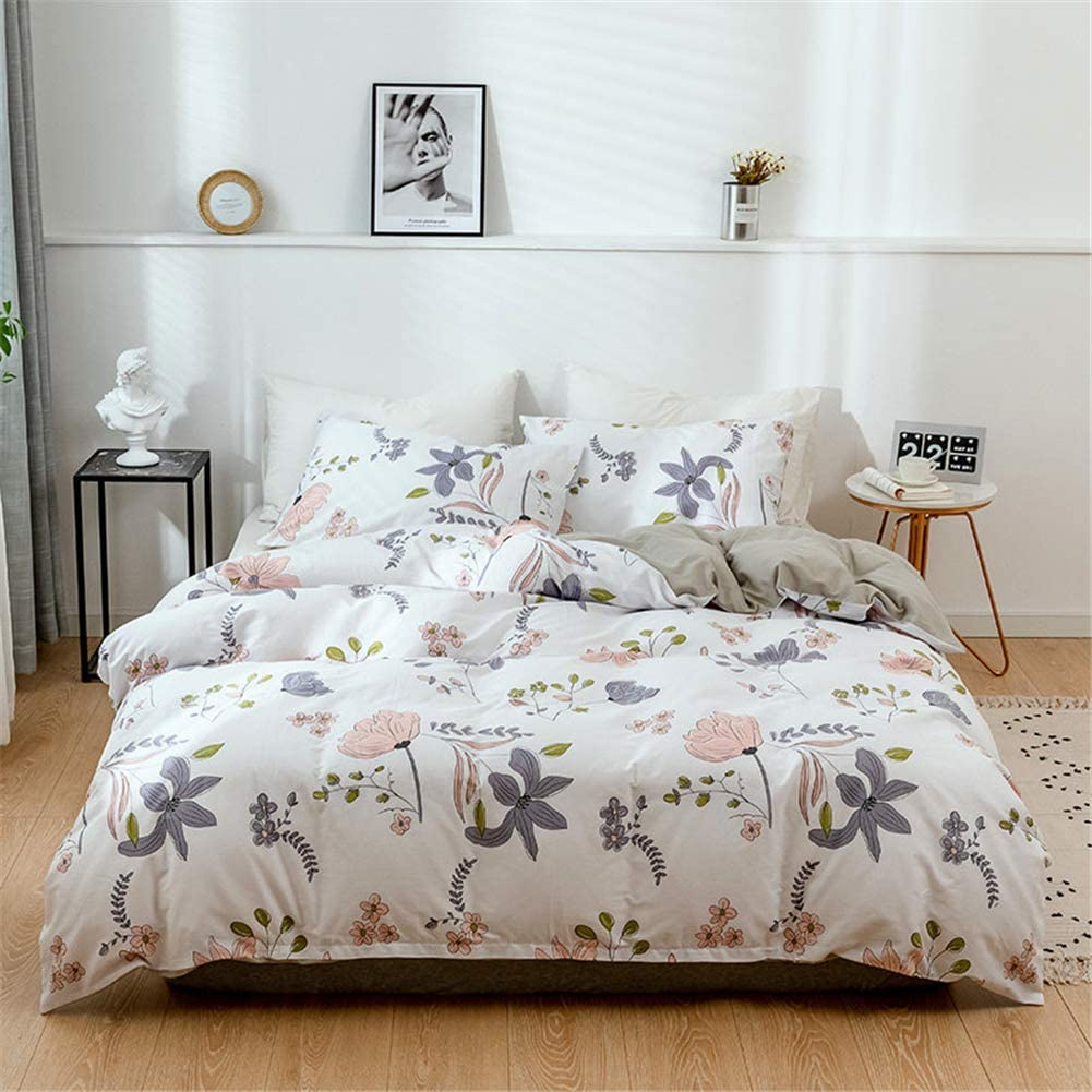 Honeystore 2Pcs Direct store Floral Duvet Dealing full price reduction Covers Be Set Flower Printed Single