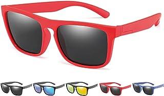SQUATCH - | Gafas de sol Paris | Niños Niñas Niñas 4 – 14 años | Montura irrompible | lentes polarizadas y antirreflectantes | UV400 100% UVA UVB | 5 colores aspecto mate, Rojo (rojo/gris), M
