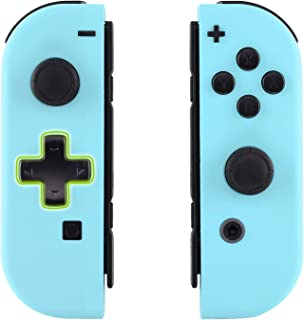 eXtremeRate Soft Touch Heaven Blue Joycon Handheld Controller Housing (D-Pad Version) with Full Set Buttons, DIY Replaceme...