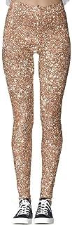 DIYCCY - Pantalones de yoga con purpurina, color rosa