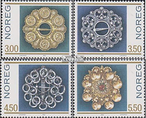 Prophila Collection Norwegen 1165-1168 (kompl.Ausg.) 1994 Trachtensilber (Briefmarken für Sammler) Uniformen / Trachten