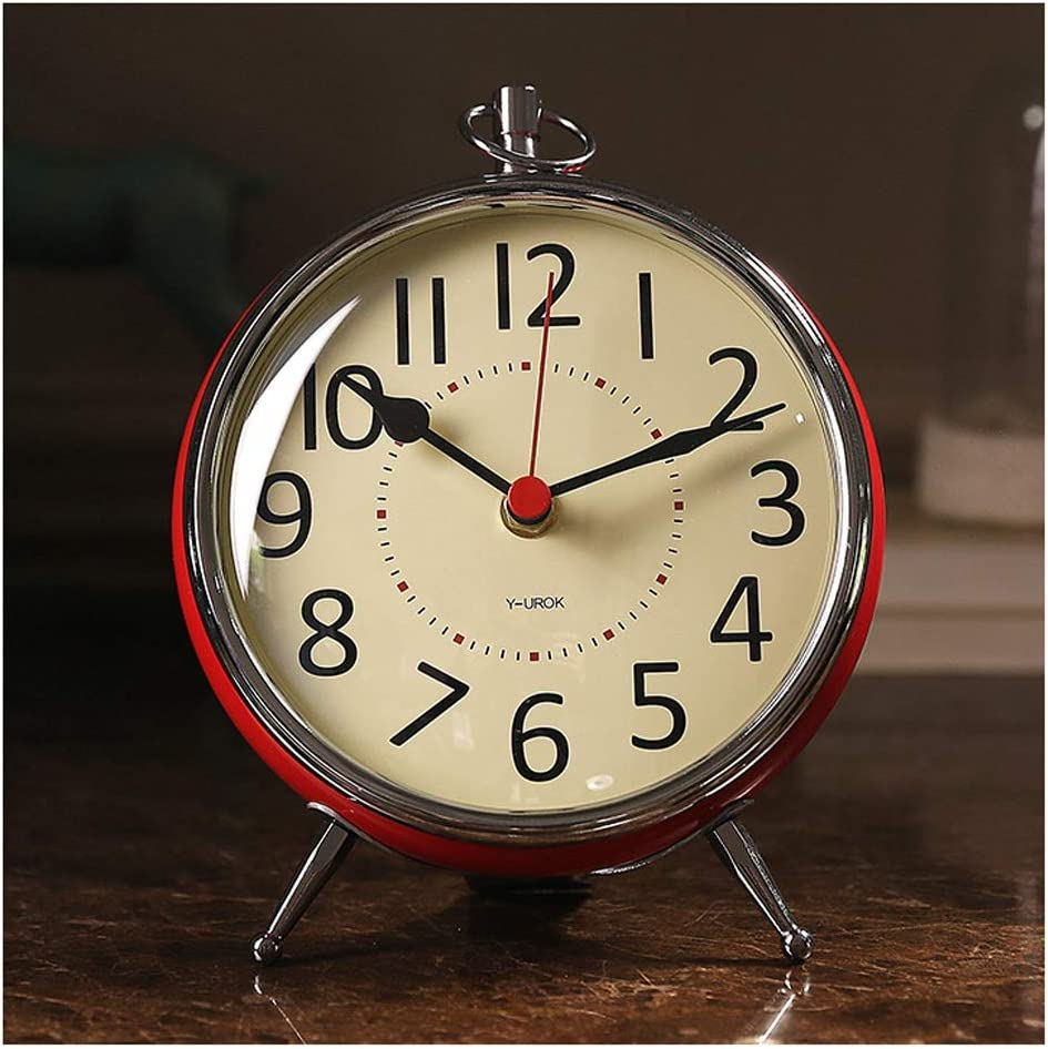 OMIDM Table Clock Daily bargain 67% OFF of fixed price sale Nordic Red Living Small Room Decor