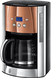 RUSSELL HOBBS 24320-56 - Coffee maker Luna - Programmable - Stainless steel & Rosé Copper