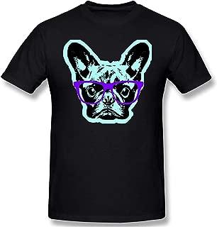 Camiseta Divertida de Manga Corta para Hombre Pop Bulldog francés para Hombre